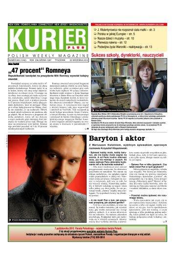 Baryton i aktor - Kurier Plus