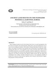 ancient land routes on the paximadhi peninsula, karystos, euboea