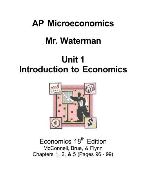 AP Microeconomics Mr Waterman Unit 1 Introduction To Economics