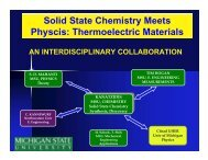Thermoelectric Materials - chemgroups