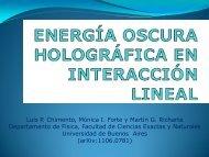 Energia Oscura Holográfica en Interacción Lineal