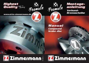 Montageanleitung Formula Z - Otto Zimmermann Bremsscheiben ...