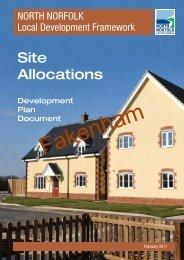Site Allocations (Fakenham) - North Norfolk District Council
