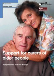 Support for carers of older people - Audit Commission