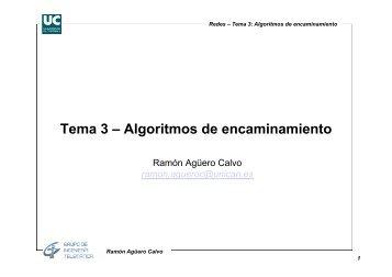 Tema 3 – Algoritmos de encaminamiento