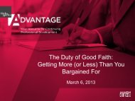 The Duty of Good Faith: Getting More (or Less) Than ... - Hicks Morley