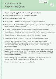Download Application form for Respite Care Grant (PDF)