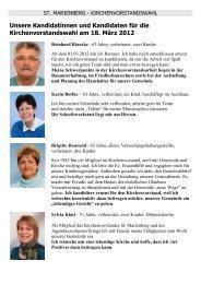 Unsere Kandidatinnen und Kandidaten für die ... - St. Marienberg