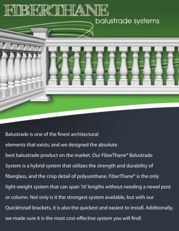 balustrade systems - Pacific Columns, Inc.