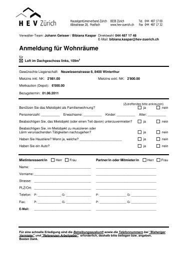 Anmeldung, Loft DG links - Homegate.ch