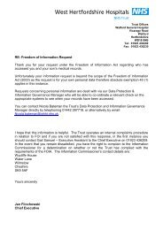 Subject Access Request (personal information) - West Hertfordshire ...