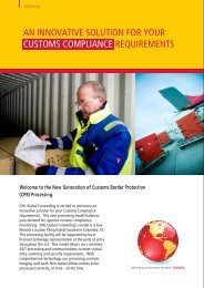 an innovative solution for your customs compliance ... - DHL