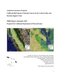 LIP Final Report - PRBO Conservation Science