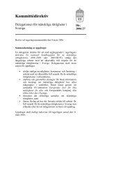 Kommittédirektiv - Mänskliga rättigheter