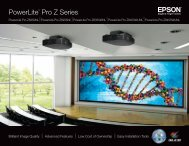 Powerlite® Pro Z Series