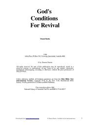 God's Conditions For Revival - Christian Issues