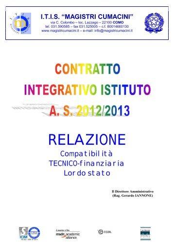 relazione compatibilità tecnico-finanziaria - itis magistri cumacini
