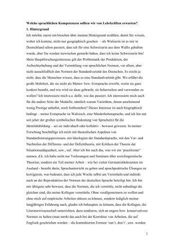 Text zum Vortrag Davies - ZHSF