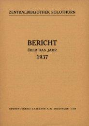 1937 - Zentralbibliothek Solothurn