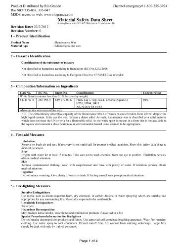Emulsion Paint Safety Data Sheet