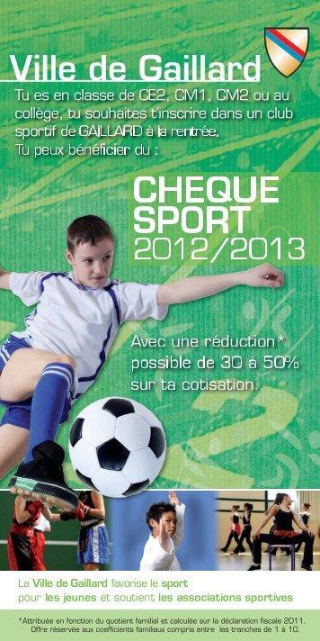 CHEQUE SPORT - Ville de Gaillard
