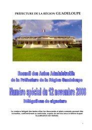 A R R E T E  N° 98-919 SG/BAIC - Préfecture de région Guadeloupe