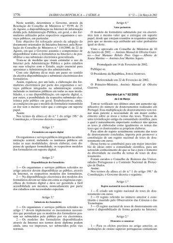 DIÁRIO DA REPÚBLICA — I SÉRIE-A N.o 52 — 2 de Março de 2002 ...