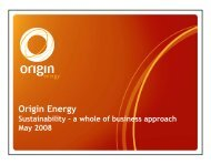 Presentation - Origin Energy