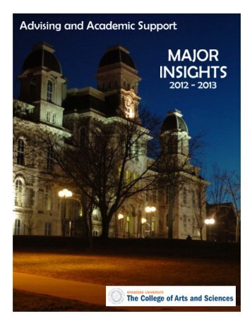 Major Insights - College of Arts and Sciences - Syracuse University