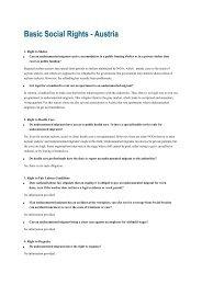 Basic Social Rights - Austria - PICUM
