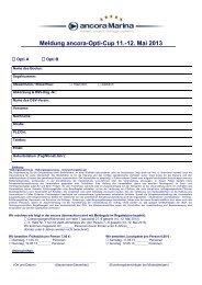 Meldung ancora-Opti-Cup 11.-12. Mai 2013 - ancora Marina