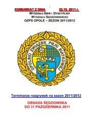 Terminarze rozgrywek siatkarzy na sezon 2011/2012