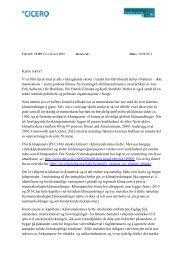 Tilsvar_Klimarealistene (pdf) - Bjerknessenteret for klimaforskning