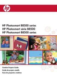 HP Photosmart série B8500 HP Photosmart ... - Hewlett-Packard