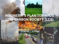 INDONESIA'S PLAN_TOWARDS_LOW_CARBON_SOCIETY_(LCS ...