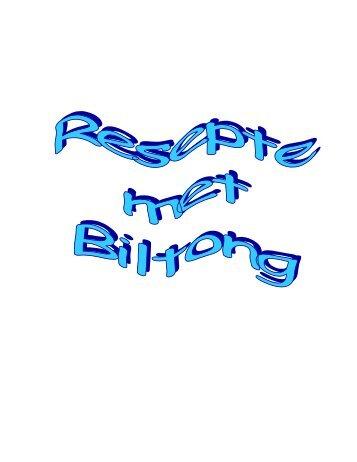 Resepte met Biltong - Peterjasie