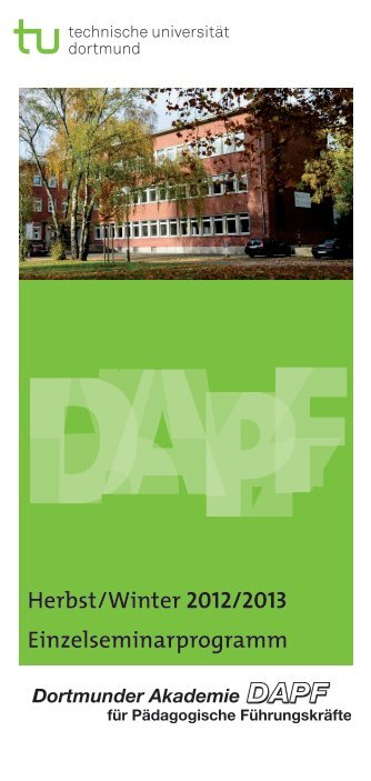 Herbst/Winter 2012/2013 Einzelseminarprogramm - TU Dortmund