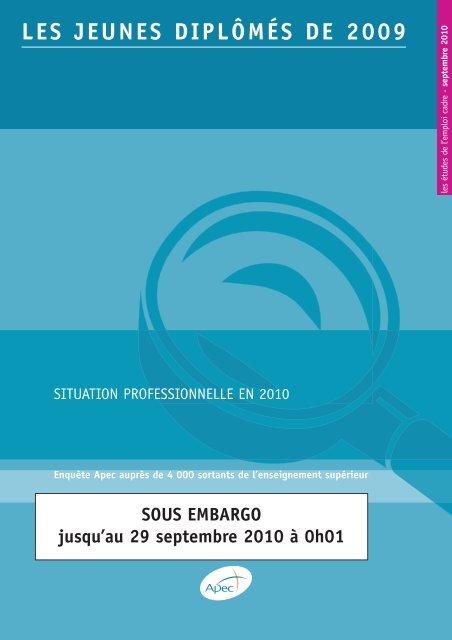 LES JEUNES DIPLÔMÉS DE 2009