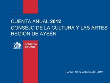 Presentación Cuenta Pública (pdf) - Consejo de la Cultura y las Artes