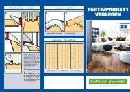 Tipps und Tricks Parkett verlegen (PDF, 1.4 MB - ZG Raiffeisen
