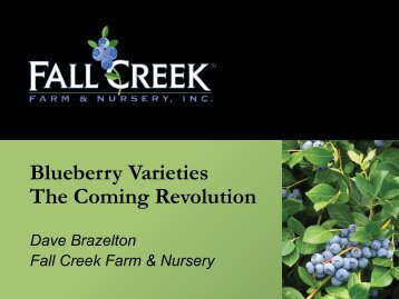 Dave Brazelton, Fall Creek Farm & Nursery - Global Berry Congress