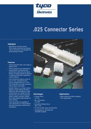 .025 Connector Series - FM Electro