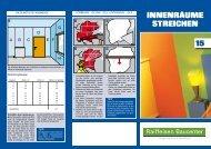 Tipps und Tricks Innenwände streichen (PDF, 1.2 MB - ZG Raiffeisen