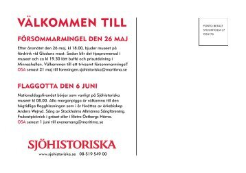 VÄLKOMMEN TILL - Sjöhistoriska