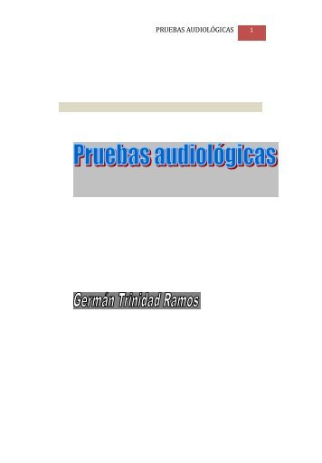 Pruebas audiológicas - Inicio