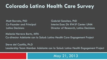 Colorado Latino Health Care Survey - Latino Decisions