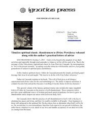 Timeless spiritual classic Abandonment to Divine ... - Ignatius Press