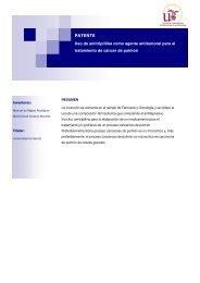 PATENTE Uso de amitriptilina como agente antitumoral para ... - OTRI