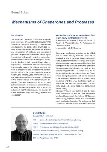 Mechanisms of Chaperones and Proteases Bernd Bukau