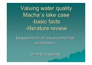 Valuing water quality